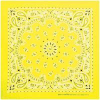 Carolina Manufacturing Neon Paisley Bandana Yellow