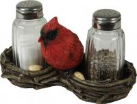 Rivers Edge Products Cardinals Salt & Pepper Set