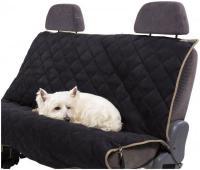 Petego Animal Basics Velvet Seat Cover Rear Seat  Stone-Espresso