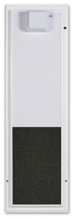 PlexiDor Large Door Mount Electronic Performance Pet Door, White