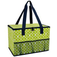Picnic at Ascot Collapsible Storage Container/Organizer for Home and Trunk - Trellis Green