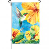 Premier Designs Hummingbirds & Hibiscus Garden Flag
