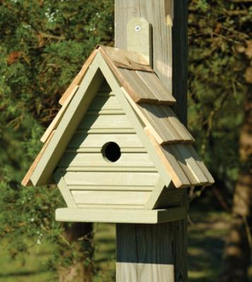 Heartwood Chick Birdhouse, Celery