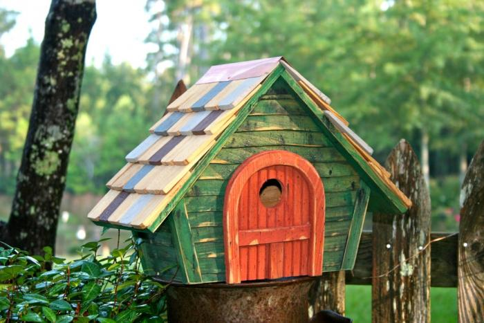 Heartwood Prairie Home Bird House, Green