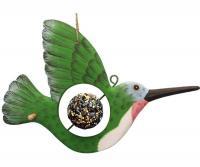Bobbo Hummingbird with Food Skewer Feed Ball Suet Feeder