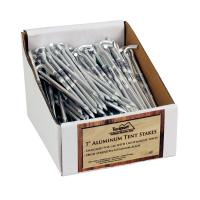 "Texsport PDQ Packed 7"" Aluminum Tent Stakes, 200 Units"