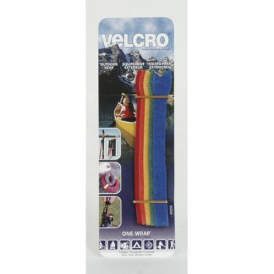 "Velcro One-Wrap Straps, 8"" x 1/2"", 5 Pack"