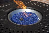 Well Traveled Living Sapphire Blue Reflective Fire Glass