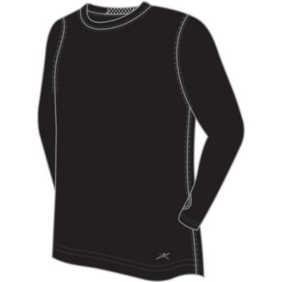 Terramar Thermolator Mens Crew Blk Lg
