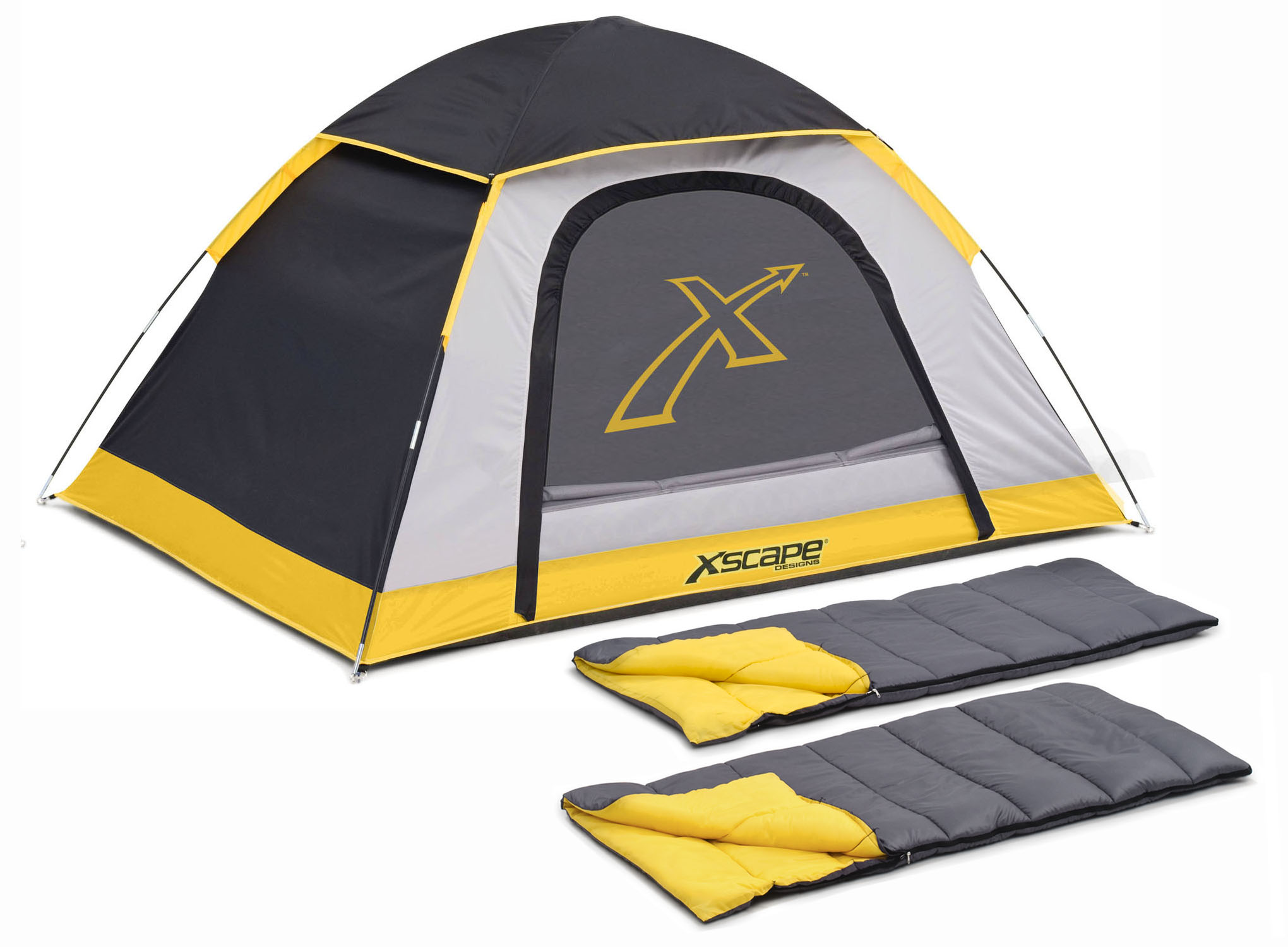 Xscape Designs Explorer 2 Person Dome Tent u0026 Sleeping Bag Combo  sc 1 st  C&ing Gear Outlet & Designs Explorer 2 Person Dome Tent u0026 Sleeping Bag Combo