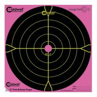 "Orange Peel 12"" bulls-eye: 5 sheets, PINK"