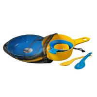 Wildo Eating Essentials - Two Person Set - Light Blue/Lemon