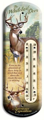 American Expeditions Deer Tin Thermometer