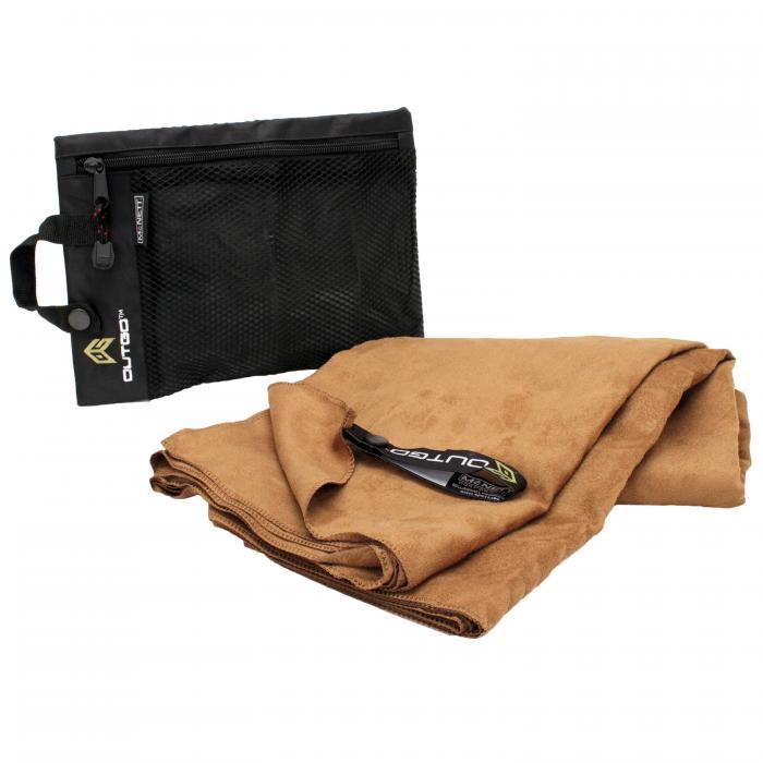 Outgo Microfiber Towel, 30 x 50 in., Mocha
