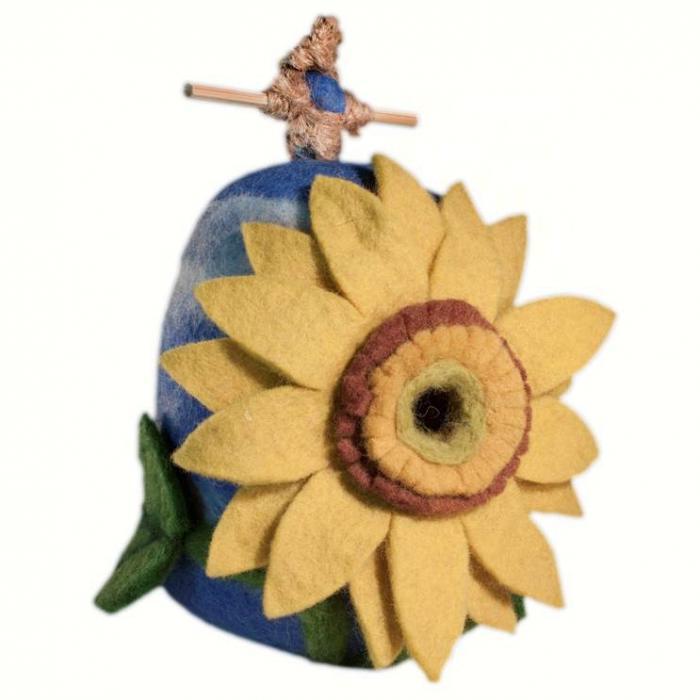 DZI Handmade Designs Sunflower Felt Birdhouse