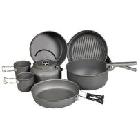 NDuR Cookware Mess Kit w/Kettle, Anodized Aluminum