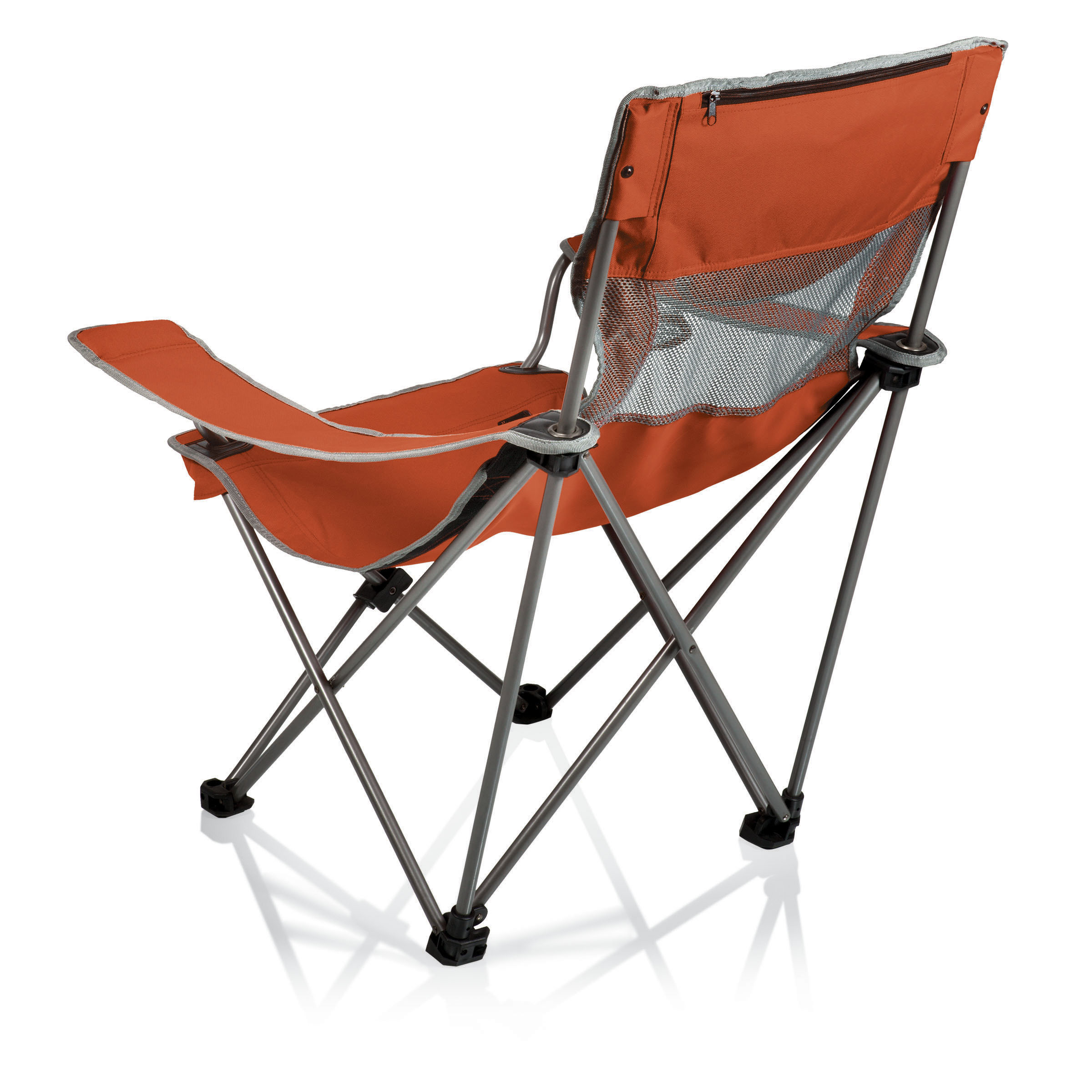 Picnic Time Campsite Folding Camp Chair Burnt Orange Grey