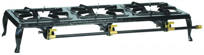 Stansport Cast Iron Stove with Triple Burner