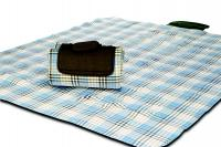 "Mega Mat Folded Picnic Blanket with Shoulder Strap - 68"" x 82"" (Wild Tarragon)"