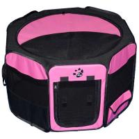 "Pet Gear Travel Lite Soft-Sided Pet Pen with Removable Top Pink 46"" x 46"" x 28"""