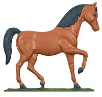"30"" Horse Weathervane - Rooftop Color"