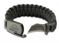 "Outdoor Edge Para-Claw, Medium Paracord Bracelet, 1.5"" Survival/Defense Knife"