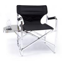 Aluminum Portable Folding Director Chair with Side Table and Cup Holder