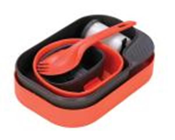 Wildo Wildo- Camp-A-Box W/Spork, Orange