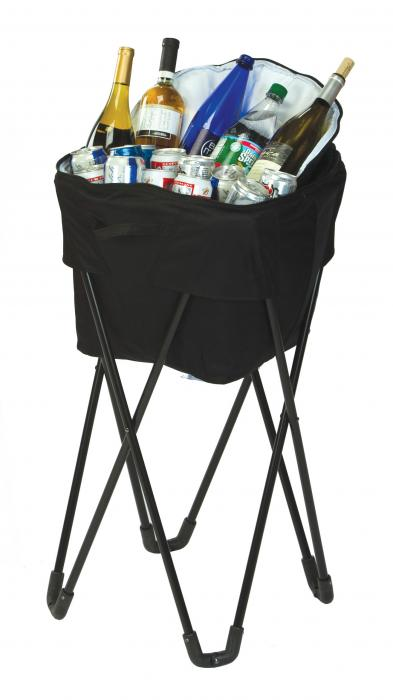 Picnic Plus Insulated Tub Cooler with Stand - Black