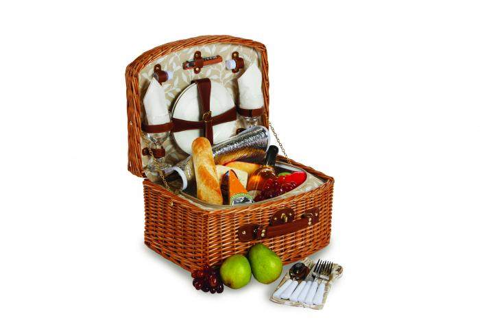 Picnic Plus Benton 2 Person Picnic Basket - Vine Lining