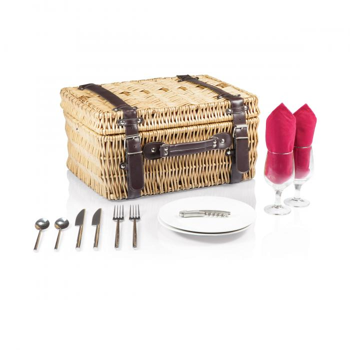 Picnic Time Champion- Red Picnic Basket for 2