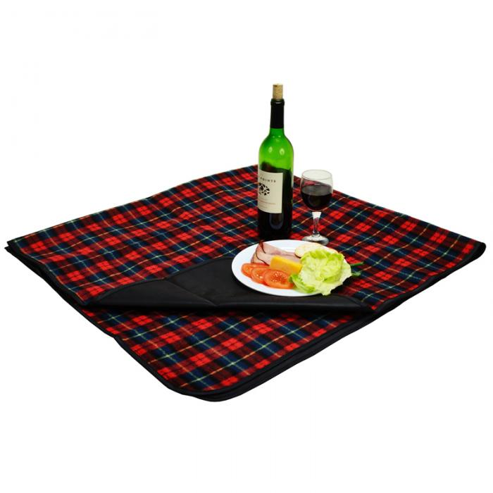 "Picnic at Ascot Outdoor Picnic Blanket with Waterproof Backing  58"" x 53""- Red Plaid"