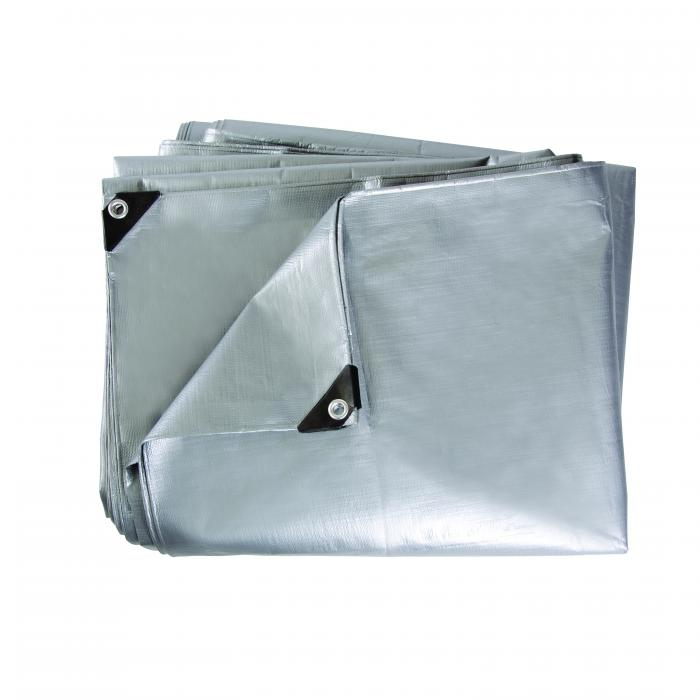 Wood Cover Tarp-Heavy Weight-12 Ft X16 Ft-Silver / Silver