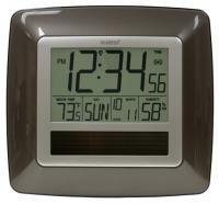 La Crosse Technology Solar Atomic Digital Wall Clock w/ Indoor Temp / Humidity