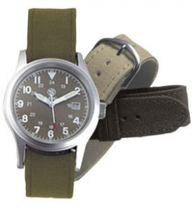 Smith & Wesson Military Watch OD Green w/3 Bands
