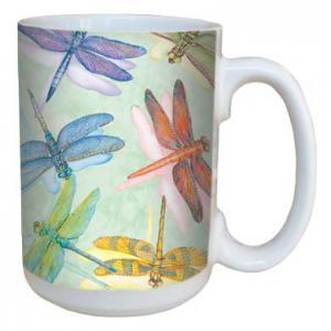 Tree Free Greetings Dragonflies Mug 15 oz