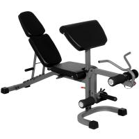 XMark FID Flat Incline Decline Weight Bench with Arm Curl and Leg Developer XM-4418