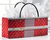 Giftcraft Red Quilted Print Handbag Design Wine Bottle Gift Bag