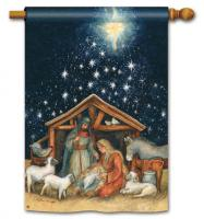 Magnet Works Holy Night Standard Flag