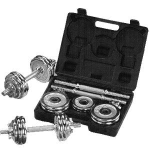 Sunny Health and Fitness 33 Pound Chrome Dumbells