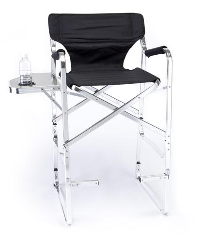 Coleman Folding Chair With Side Table Deluxe Tall Director Chair w/ Side Table and Cup Holder