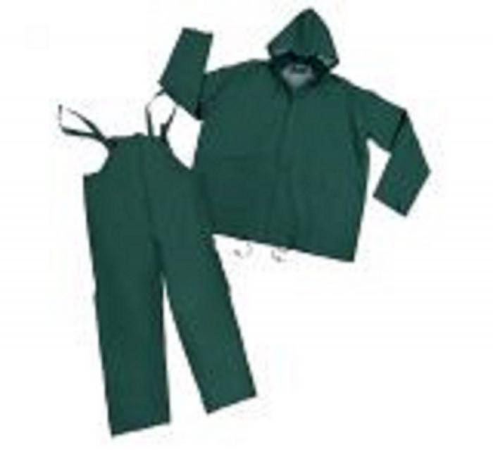 Stansport Mens Vinyl Rainsuit - Green - Medium