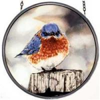 Glassmasters Mad Bluebird Suncatcher