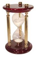 River City High Gloss Finish Wood & Brass 15 Minute Sand Timer