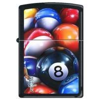 Zippo Mazzi Eight Ball-218 Black Matte