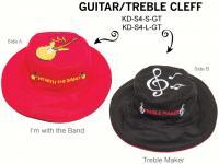 Luvali Convertibles Guitar Treble Cleff Reversible Kids' Hat, Small