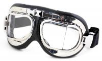 Humvee Gear UV 400 Protection Motorcycle Goggle with Adjustable Head Straps, Chrome