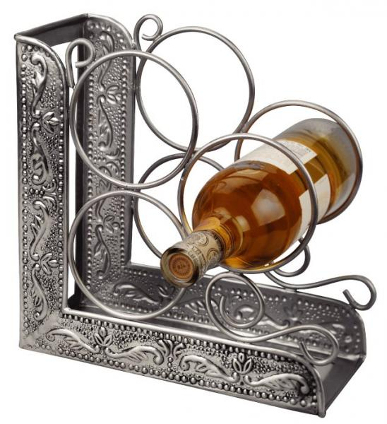 Antique Pewter Winerack