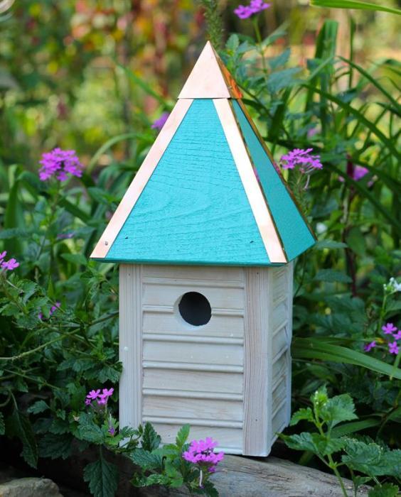 Heartwood Gatehouse Birdhouse, Turquoise