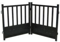Royal Weave Freestanding Dog Gate - Black